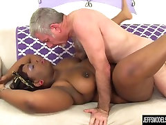 Black best doggy sryle Has a White Dick Stuffed in Her Mouth and Twat