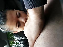Blowjob in the car with cum in mouth - another gipsy girl