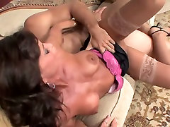 Sexy xxx movies tuchr in stockings heels takes a facial