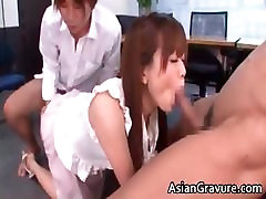 Hot and sexy extra screaming secretary blows rigid part2