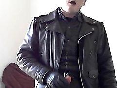 leather biker greyland mask rubber smoke cigare