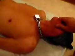 training slave nicolas12: wrist in throat fisting