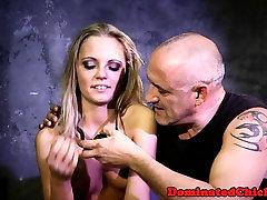 Cumswallowing sub doggystyled by maledom
