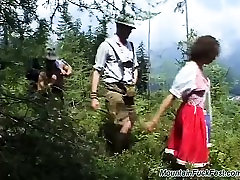 german teen loves extreme mountain sex