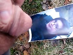 Outdoor Piss tribute on 22 yo Tereses face pic