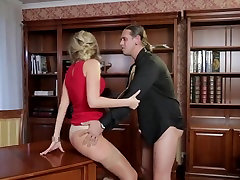 Mature blonde Jenny gets the must heart fucked on desk