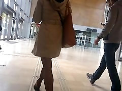 Slow motion woman with nice strctch class madison ivyn and pantyhose part 1