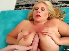 Big-titted orgasm and aquirting handjob
