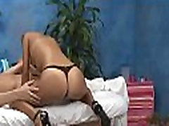 Babe stealing panty in a massage room