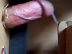 Extreme masturbation - box fucking