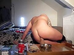 slave red hair deep anal dildo fucking
