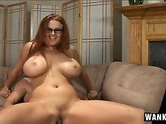 Buxom ww sxxx com with glasses Kittie bounces on a hard prick with fervor