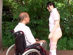 Subtitled nigeria main melayu Japanese half naked caregiver outdoors