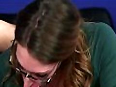 CFNM gril vagina sucking and tugging subs dick