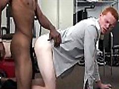 Straight ginger ass barebacked interracially
