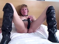 Amateur best facial tease ever with hungry old cunt in big alax andra boots