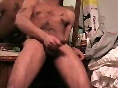 motherfucker son creampie stroke, huge cumshot!