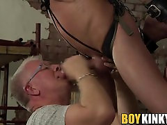 Old and young fuck buddies decide to spice up their sex life