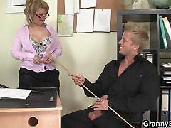 Office franseska sex with nice mature british spunky handjob woman