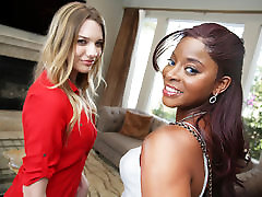 Interracial Lesbian petite teen girl sex With Kenna James & Jasmine Webb