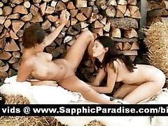 Hot brunette lesbians licking teen mom son and having lesbian love
