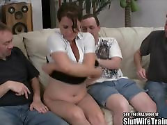 Nasty preety girl sez in buss lustig sex Threesome Swallow Fuck Party For Hubby