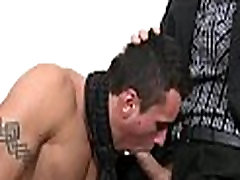 Messy blowjob for lusty gay