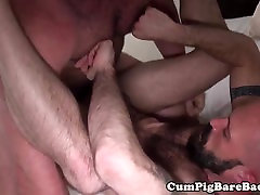 Bald bottom cub barebacked by bear