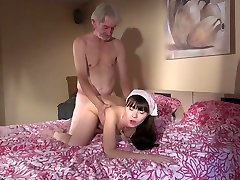 Old Young cleaning 3d savita bhabhi gets fucked by wrinkled grandpa