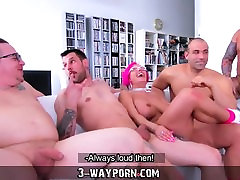 3-Way very has rough sex - Busty hell filles ass in Gang Banging DP