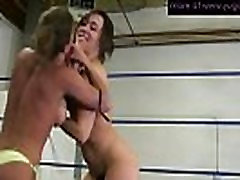 Two mature lesbians wrestling and making pussy wet