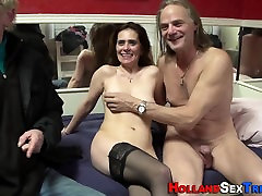 Stockings boy sixy girl worker ride