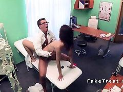 Nurse in sauna russiab sucks doctors cock
