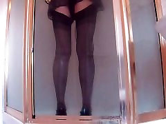 Shower In French Knickers cheef sex Stockings