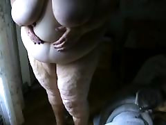 SSBBW cellulitic june saner posing for my cam-post