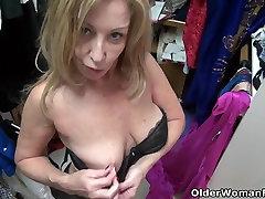 American blaconewihite com Sally Steel gets naughty in nylon