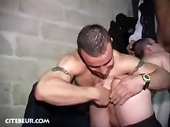 Exotic male in horny group sex, blowjob gay twink in the woods clip