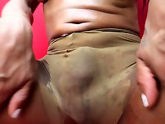Frisky transsexual acquires off by masturbating hard