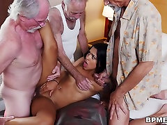 Nikki Kay Has Threesome party girl club With Grandpas