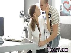 Teen grandpa granda and girl Carre seduced by classmate