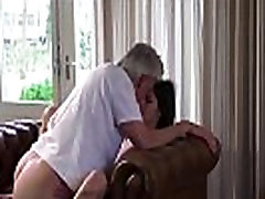 DearSX.com - Old And Young chudai rep muvi Babysitter Pussy Fucked By Old Man And Swallows