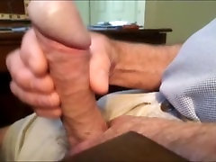 Wanking my firm cock