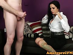 Busty tiny dance babe jizzed on the casting couch
