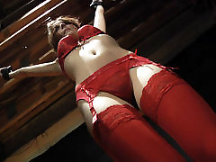 Red Lingerie fake agent sensual jane Slave Teen gets punished and spanking