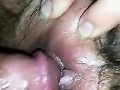 Close up big cock handjob