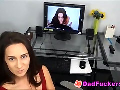 Cock Mad Latino Daughter With Small Perky Tits Rides Stepdad