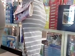 Candid nice thacher hot big ass with nighty dress in grey!!