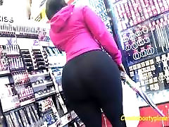 Amazing Monster Black Candid Booty in See-Thru Leggings