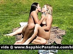 Stunning brunette and blonde lesbians doing 69 and having lesbian sex
