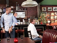 MILF Sucks Him at the bar